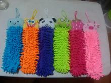 Drop Shipping encantador dos desenhos animados toalha Chads de suspensão mão muitos projetos Chenille Chads suspensão toalha de banho(China (Mainland))