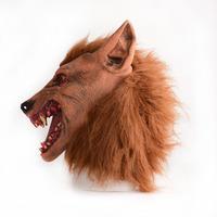ON SALE  #Halloween Creepy Adult wolf head latex Rubber Mask