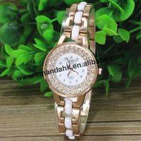 50pcs/lot TS-3091Cowboy Imitative Ceramic Watches Hollow WatchBand Women Rhinestone Quartz Dress Bangle Watches Free Shipping