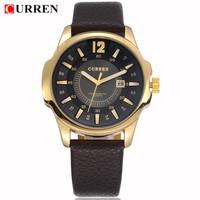 Fashion Men Watch 4 Colors CURREN 8123 Brand Wristwatches Japan Movement Quartz Watches With Calendar 1piece/lot BW-SB-758