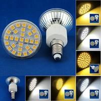 6 Pcs/lot Free Shipping E14 LED 3W/4W/5W 29pcs/48pcs/60pcs SMD3528/5050 LED Spot Light Lamp Bulb AC220V Warm White/Nature White