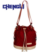 GB1055 Fashion Vintage women messenger bags Tassel Drawstring Bucket designer handbags high quality Shoulder Bag