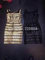 2014 New arrival Women's gold black mesh Bandage Dress HL  Evening Dresses HL dropship and wholesale