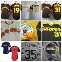 2014 cheap stitched  san diego padres san diego padres 19 Tony Gwynn Throwback  baseball Jersey/shirt /sportswear