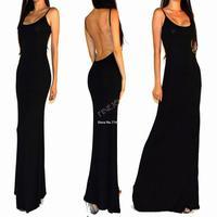 New Sexy women summer dress Spaghetti Strap sleeveless backless Long maxi Club wear cocktail party dresses XS-L B11 SV003496
