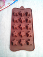Silicone Cake Mold Star B Style Silicone Mold Chocolate Ice Cream Printing Die Cake Baking Tools Free Shipping!