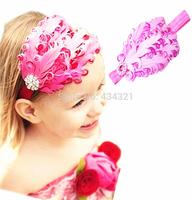 Hot selling European baby hair bands headdress hair accessories baby girls hair clips diamond jewelry ring hairpin head flower