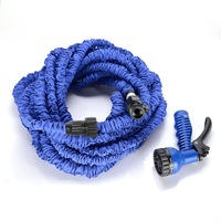 2014 free shipping Garden hose 100ft with expandable  blue water hose + gun high quality WATER GARDEN Pipe Water valve