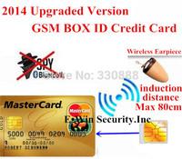 GSM BOX ID Credit Card Earpiece Invisible Wireless Bluetooth Hidden Mini IMEI SIM 4.5W