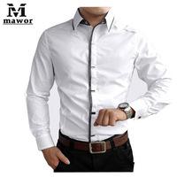 New 2014 Spring Autumn Cotton Dress Shirts High Quality Mens Casual Shirt,Casual Men Plus SizeXXXL Slim Fit Social Shirts