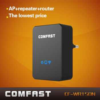lowest price AP+repeater+router three-in-one COMFAST CF-WR150N 150Mbps 802.11N portable ...