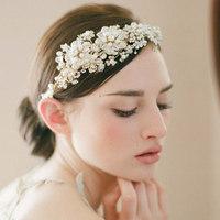 2014 Women Flower Wedding flowers bridal bouquets Headdress Bride High-end Handmade Wedding bouquet Crystal Diamond Pearl Hoop