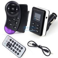 New Arrival Hot Sale Car Kit MP3 Player Wireless Bluetooth Handsfree FM Transmitter USB SD MMC LCD b4 SV004147