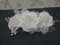 Acessorios Para Cabelo Headband Hair Accessories Lace Wedding Bridal Pearl Rhinestone Tiara Comb Factory Wholesale Flower Head