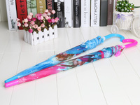 2pcs/lot Umbrella Student Long-handle umbrella for children Princess Elsa & Anna Hanging Umbrella
