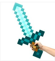 Wholesale 50 pieces in a lot 2014 Newly Designed Minecraft Sword Minecraft Diamond Foam Sword Free Shipping By Fedex ems