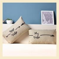 Couple Gifts Cotton Linen Pillow Case Ikea Nap Pillow Creative Lumbar Pad Fashion Cushion Covers 30*50CM B6218 A.A