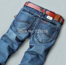 Nuevo Diseño 2014 de la manera libre al por menor de la alta calidad Nostalgic azul algodón para hombre de los pantalones vaqueros de los hombres de los pantalones vaqueros verdaderos Jeans transpirable Deportes 28-40(China (Mainland))