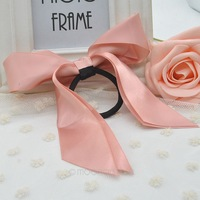 New Hairwear Hair Accessories Women Ribbon Bow Hair Band Headband Scrunchie Ponytail Holder Elastic Hairband Kids Y10*MHM030#M5