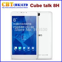 Original 8''IPS Cube talk 8 talk 8H U27gt talk 8H Quad Core 3G Phone Tablet 1280x800 Android 4.4 Tablet PC MTK8382 1GB RAM WCDMA