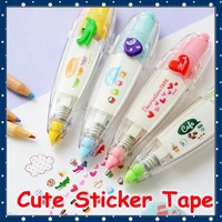 [FORREST SHOP] Kawaii School Stationery Cute Cartoon Correction Tape For Kids / DIY Scrapbooking Stickers (12 Pcs/Lot) UP-8380