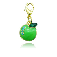 Free Shipping Fashion Apple charm Necklaces & Pendants Accessories Handbag Lucky Floating Charms With Lobster Clasp  DZ0524
