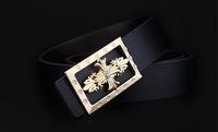 new 2014 belt genuine leather belts for men leather belts strap for jeans pink buckle 4 color
