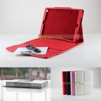 For iPad air Wireless Bluetooth Keyboard PU Leather Stand Case Cover For iPad air &Free Shipping Free Stylus Pen