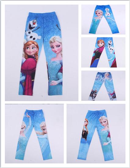Haute qualité nouveau 2014 romantique coton congelés. elsa bébé enfants leggings des filles enfants legging