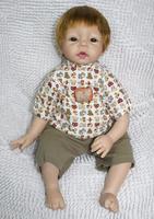 "New style realistic 22"" very soft reborn baby dolls handmade doll blue eyes silicone vinyl newborn real baby doll"