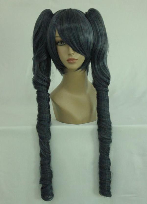 Supreme Halloween 80cm Long Wave Ponytail Black Butler Ciel Phantomhive Lady Classical Cosplay Wig(China (Mainland))