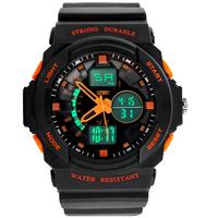 2015 New Children Digital Watches 2 Time Zones Quartz Electronic LED Chronograph Jelly Silicone Swim Watch Kids Wristwatches
