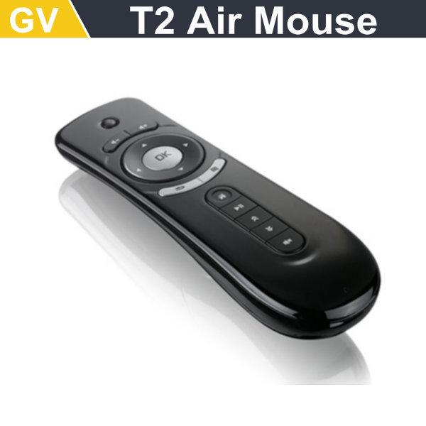 nova chegada t2 air mouse 2.4g movimento 3d vara pc remoto rato ratos para a caixa de tv smart tv media player dispositivo frete grátis(China (Mainland))
