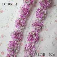 "Vintage Frayed Chiffon Flower,2.5"" Headband Flower Accessories ,Chiffon Flower 30yards"