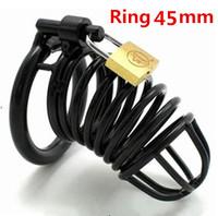 Black stainless steel Adult Sex Toys penis male chastity belt lock S200K45