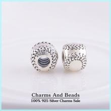 925 Sterling Silver Baseball Thread Charm Beads For Bracelet Jewelry Making Fits Pandora Style Charm Bracelets