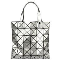 Fashion New 6*6 Plaid Glitter Clutch Bag Womens Messenger Shoulder Bags Handbags for Evening bao bao issey miyake BG016