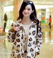 2014 New Fashion Best Selling Winter Women Short Down Jacket Warm Leopard Jacket Thin Plus Size Thin Thick Coat Qzn0049