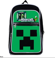 New Arrival ! Wholesale The Minecraft Creeper Backpack Minecraft JJ School Bag For Young People Best Gifts +Free shippment