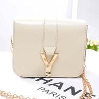 2014 New Hot  PromotionSummer new fashion women candy color metal chain mini inclined shoulder bag single shoulder bag