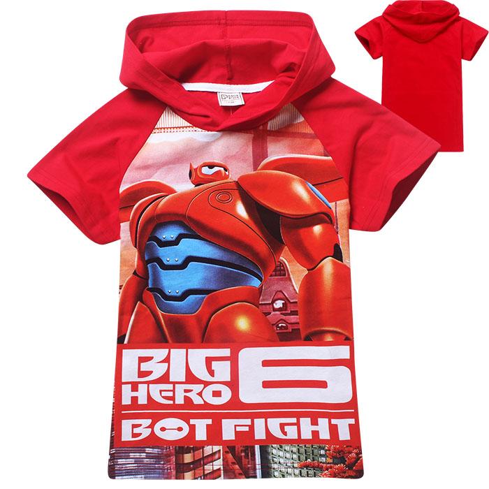 big hero 6 fashion boys t shirt,short sleeve summer girls t-shirt,fantasia children clothes hoodies baby kids tops tees(China (Mainland))