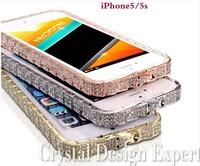 New Super Bling Bling Luxury Unique Serpentine & Bracelet Design Swarovski Element Crystal Metal Bumper Case For iPhone 5 5S