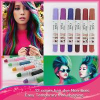 Fashion salon 1pcs  Hair Color Professional  Non-Toxic Temporary Salon Color Hair Chalk Dye Pastels 12 colors available