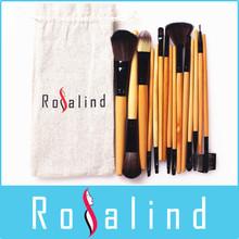 Rosalind New 2014 makeup 15 Pcs Makeup Brushes Set Professional Makeup Brushes & Tools Makeup Brush With Drawstring Bag(China (Mainland))
