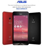 "Original  asus zenfon 5 Mobile Phone Android 4.4.2 Corning Gorilla Intel Z2560 5"" IPS Dual SIM 8MP 2GB RAM 16GB ROM cellphones"