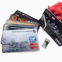 4G/8G/16G/32G Bank Credit Card Shape USB Flash Drive Pen Drive Memory Stick,Drop Shipping+Free Shipping P1011