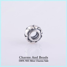 925 Sterling Silver Stars Thread Charm Spacer Beads Fits Pandora Style Charm Bracelets Bangles