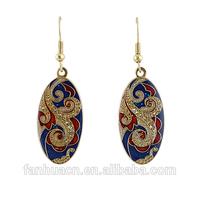 2014 New Fashion Designer Bijoux  Vintage Style Multicolor Enamel  Drop Earrings for Elegant Women