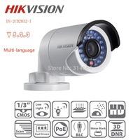 Hotest Hikvision Original waterproof IP66 IR Network Alarm CCTV Camera DS-2CD2032-I 3MP Bullet Ip Security Camera Support POE
