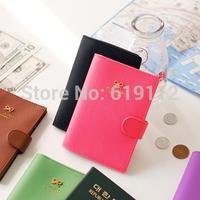 Colorful Passport holder  Bowknot Passport Holder cover case PU Storage Bag 5pcs/lot Free shipping